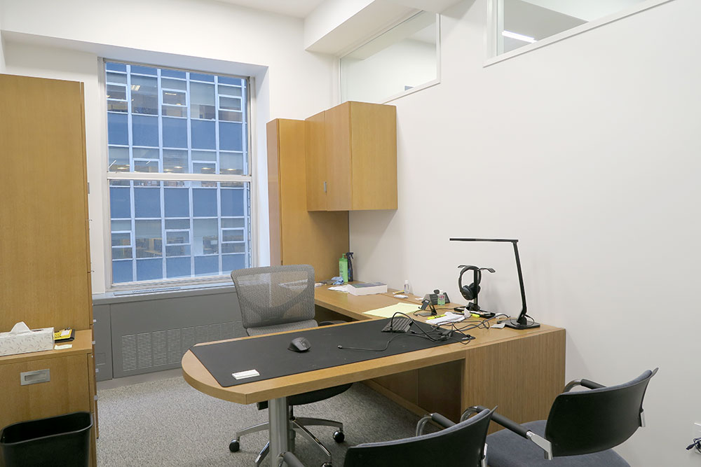 Windowed office for sublease in Financial District
