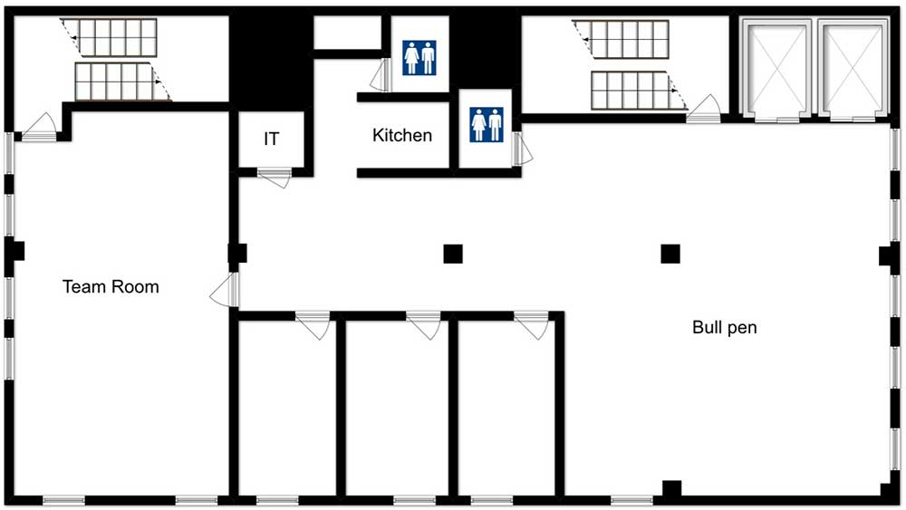 floor plan for office sublet