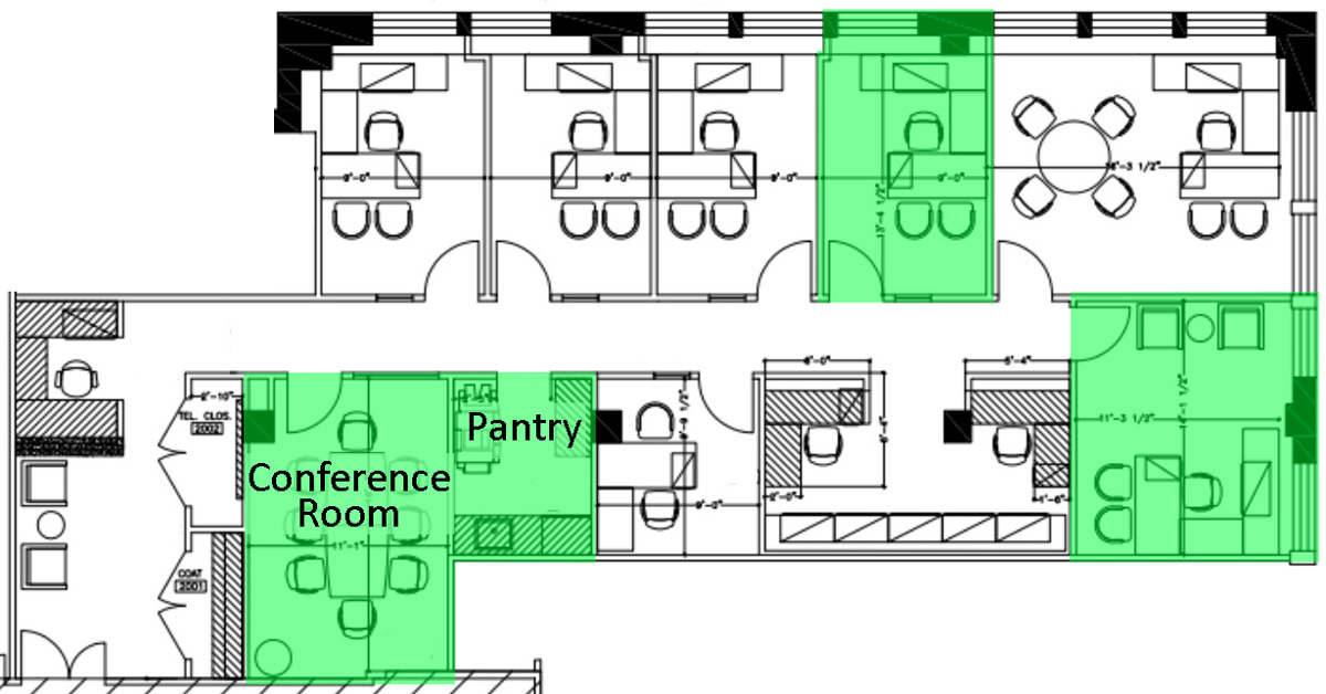 Law Office Floor Plan: Private Office For Sublease In Law Firm Suite At Penn