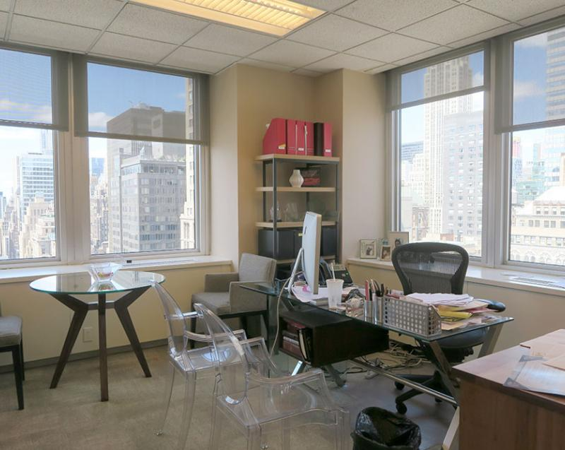 large corner office for sublease midtown south