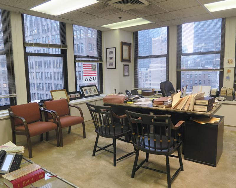 large corner office for sublease