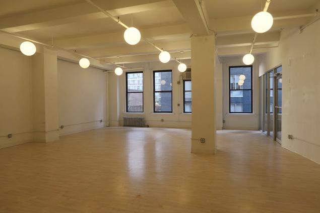 Open Loft Space With Private Glass Enclosed Office 10001