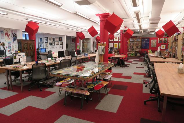 creative open office space in flatiron district