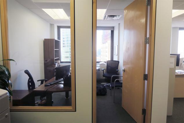 private windowed office financial district