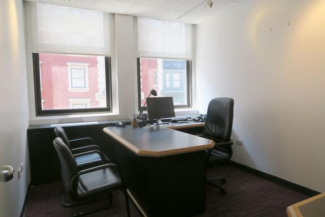 Nomad windowed office space for sublease