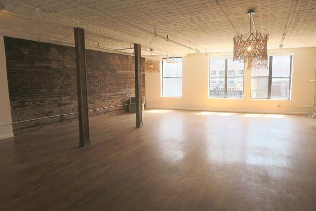 open loft office space for lease on bowery