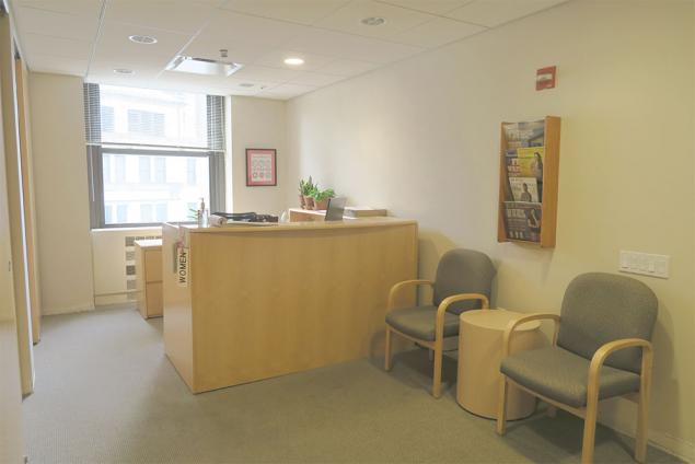 Office sublease in financial district