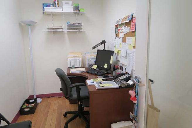 Interior office for sublease
