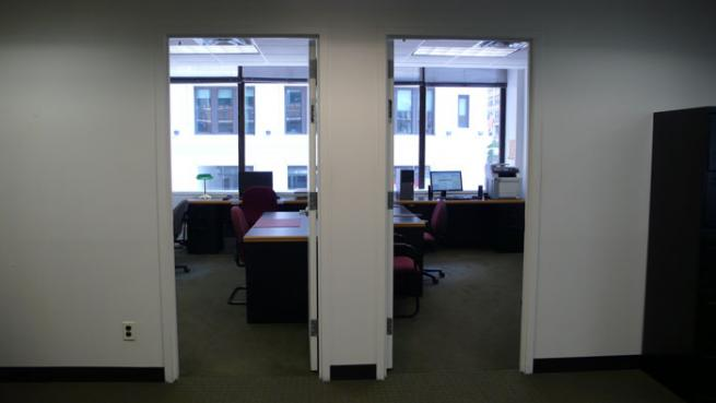 Two windowed offices for sublease