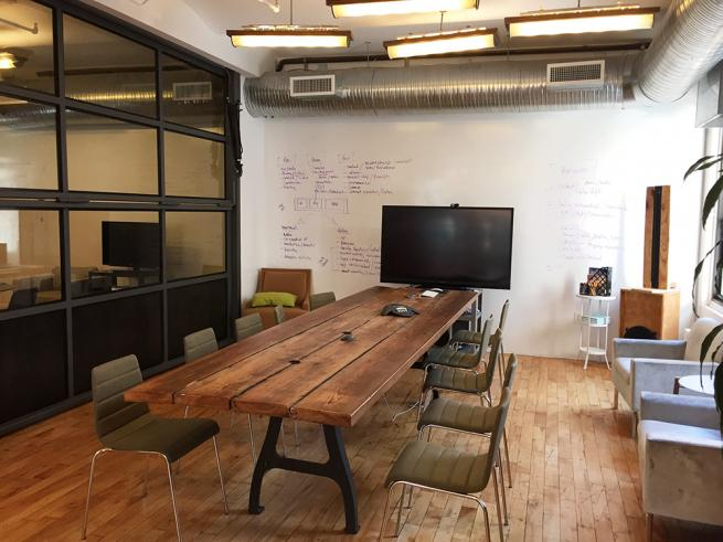 open creative office space for sublease